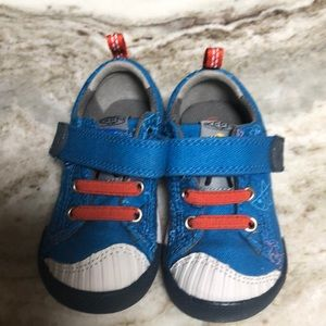 ADORABLE KEEN TODDLER SNEAKERS BLUE FISH 4